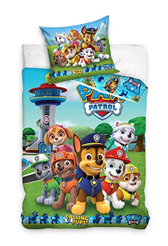 Paw Patrol Kids Duvet Cover With Pillowcase 140x200 + 60x70 CM Cotton
