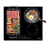 Gasland Chef IH604BF 60 cm integrierter Induktionskochfeld, 7000 W Elektroherd mit 4 Boost-Zonen, FlexInduktionskochfeld für BBQ, WarmUp/STOP + GO-Funktion