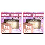 Popaball Drink Shimmer Rose Gold Raspberry Flavour | 2 x 21 grams | Prosecco, Gin, Mocktail & Cocktail Making Gifts | Gift Set Ideas For Her, Hampers & Hen Parties