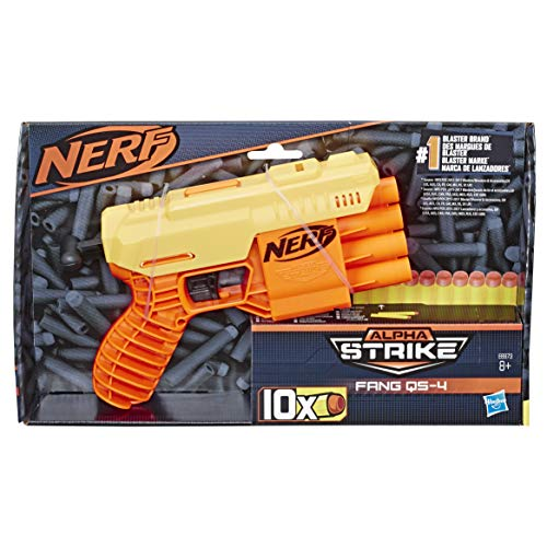 Fang QS-4 Nerf Alpha Strike Spielzeug-Blaster - inklusive zehn Nerf Elite Darts - für Kinder, Teenager, Erwachsene