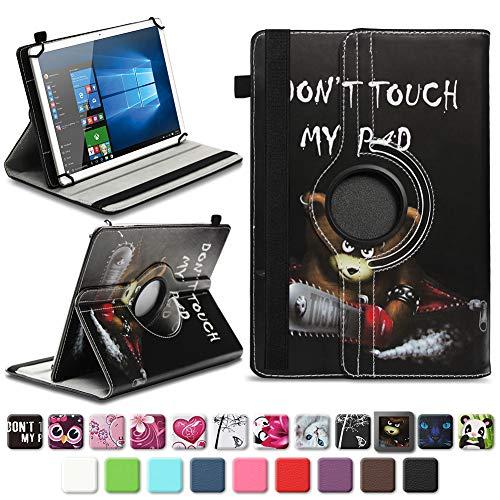 na-commerce Robuste Universal 10-10.1 Zoll Tablet Schutzhülle aus hochwertigem Kunstleder Hülle Tasche Standfunktion 360° Drehbar Cover Case Schutzhülle, Farben:Motiv 9