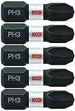 BOSCH ITPH3105 5 Pc. 1 In. Phillips #3 Impact Tough Screwdriving Bits