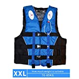 Chnrong Life Jackets Adults Life Vest with Reflective Stripes and Whistle, Adjustable Safety