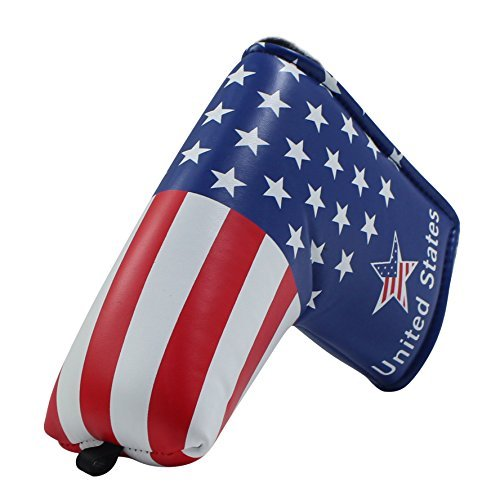Craftsman Golf Stars and Stripes Golf Putter Club Head Cover Headcover for Scotty Cameron Odyssey Blade Callaway Taylormade Etc.