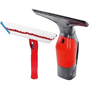 Vileda Windomatic Power Set - Aspirador de ventanas y mopa microfibras con spray, limpiacristales con cuello flexible