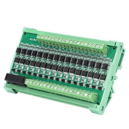 Placa de amplificador PLC de 16 canales, 12-36 V CC Placa de relé de aislamiento de 16 canales Placa de relé de PLC Entrada NPN Salida NPN
