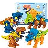 AnXiongStore Ensamblaje de Bricolaje para niños, Juguetes de Dinosaurio, Tuerca de Tornillo de plástico de Color Brillante, Modelo de Dinosaurio, Juguete Educativo para niños