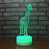Nur 1 Stück Neue 3D Kleine Nachtlichter Cartoon Giraffe Kinder Leuchtspielzeug SchlafzimmerLed 3D Lampe Nachttisch Dekorative Led Lichter Usb