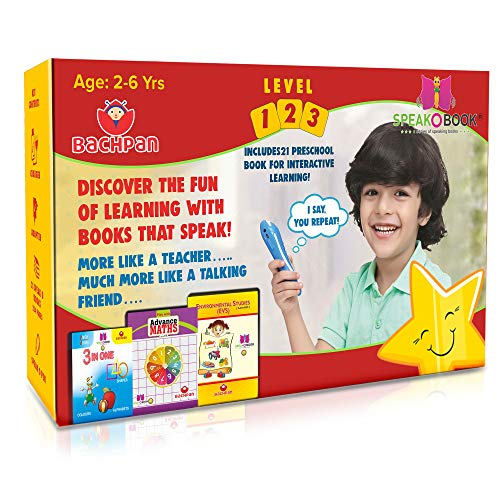 BaCHPan Speak-O-Kit with Talking Pen & 21 Speak-O-Books   2-6 Years   Independent , Immersive, Learning & Critical Thinking Skills