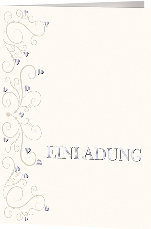 Rössler Papier - - In Love - Einladung Blisterpack Blisterpack Blisterpack 4 4 B6hd B6 m. 2xHF milk - Liefermenge  5 Stück B07CX56GJ1 | Glücklicher Startpunkt  72300e
