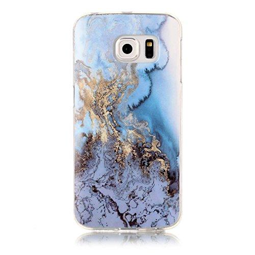 Homikon Silikon Hülle Marmor Muster TPU Handyhülle Ultra Dünn Matt Weiche Schutzhülle Stoßdämpfend Rückseite Soft Flexibel Tasche Case Cover Bumper Kompatibel mit Samsung Galaxy S6 Edge - #6