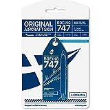 AVT076 AviationTag B747-200 (Olympic Airways) Reg #SX-OAD Blue Original Aircraft Skin Keychain/Luggage Tag/Etc with Lost & Found Feature