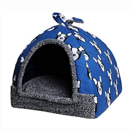 Kays Collar De Adiestramiento Cama for Perros, 2 en 1 Carpa Plegable for Mascotas Yurt Perrera Lavable a máquina Caliente Nido de algodón for Mascotas Suministros for Mascotas Perros y Gatos