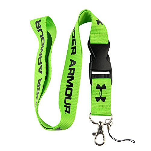 Green & Black Logo Keychain Key Chain Black Lanyard Clip with Webbing Strap Quick Release Buckle (PCK-004)