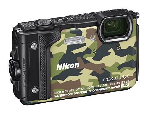 Nikon Coolpix W300 Fotocamera Digitale Compatta, 16 Megapixel, 4K, Subacquea, Antiurto, Antigelo, GPS, GLONASS, Wi-fi, Bluetooth, Mimetico [Nital card: 4 anni di garanzia]