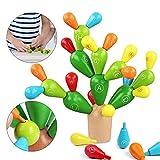 Sunshine smile Balance Kaktus,Kaktus Spielzeug,holzblöcke Spielzeug,Montessori...