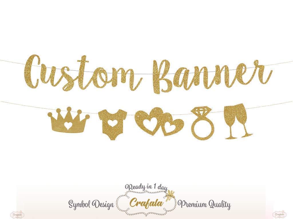 New product type Custom Glitter Banner Wedding Virginia Beach Mall Garland