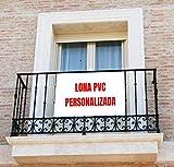 Colgaduras para Balcones Personalizadas | Lona para balcón | Personalizada con Imagen y Texto (Horizontal 100X70 CM)