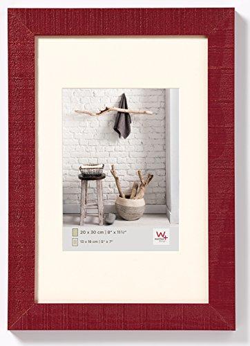 walther design HO040R Home Holzrahmen, 1 (30 x 40 cm), bordeau x