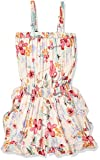 Angie Little Big Girls Floral Romper with Ruffle Shorts, Ivory, Medium