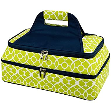 Picnic at Ascot - Two Layer - Hot/Cold Thermal Food and Casserole Carrier (Trellis Green)