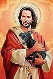 BINGSHUAI Keanu Reeves Jesus Christus Poster Dekoration