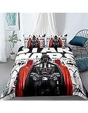 NBAOBAO Star Wars påslakanset – Mandalorian sängkläder set, påslakan till pojkar och flickor, presenter till barn, 1påslakan2 örngott (Star Wars-9,135 x 200 cm 50 x 75 cm x 2)