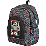 Zaino Colegio Tandem Tokio | Zaino doppio scomparto adattabile a trolley per zaini scolastici, tasca frontale e lucchetto Numerico di sicurezza, dimensioni 32 x 44 x 14 cm