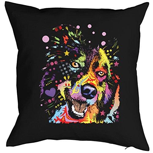 Border Collie Pillow, oreiller, almohada, Cuscino Pop Art Style
