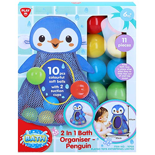 PlayGo - Juguete de baño Pingüino con 10 bolas (46393)