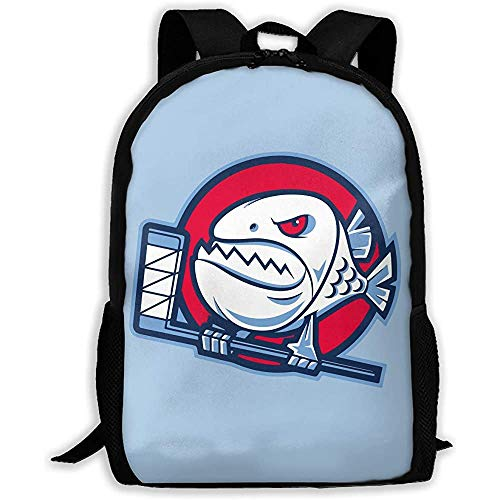 Erwachsenen-Rucksack, Hockey-Fisch, wasserfester Tagesrucksack für erwachsene Studenten College-Schultasche, Laptop-Büchertasche für Frauen Männer Travel \u0026 Business, passend für 15-Zoll-Notebook