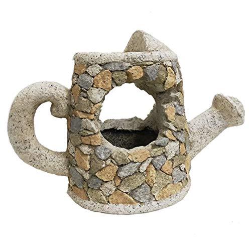 Macetero de jardín imitación piedra con forma de Regador, Figuras Resina I...