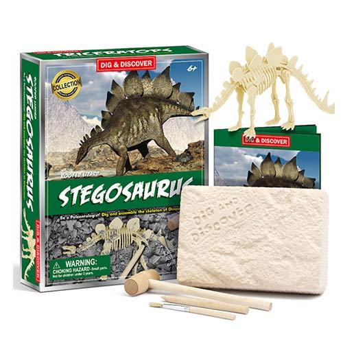 DSYYF Dinosaur Fossil Digging Kit, 3D Dinosaur Fossils DIY Dinosaur Skeleton Puzzles Model Set para niños Dinosaur Toys Birthday Party,A