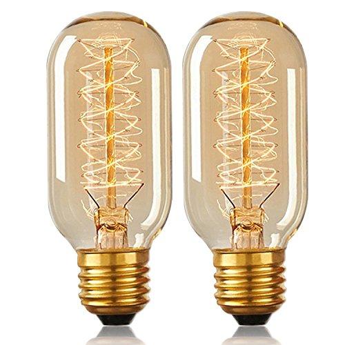Vintage Edison Glühbirne 40W E27dimmbar dekorative Eichhörnchen Käfig Filament Glühlampe T45Tube Glühbirne 2Stück