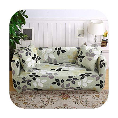 Lucylili bedruckter Stretch-Sofabezug Möbelschutz Polyester Loveseat Couch Bezug L Sessel Abdeckung für Wohnzimmer...