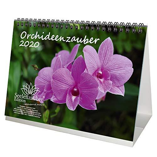 Orchideeënmagie DIN A5 tafelkalender 2020 orchideeën en bloemen en daarnaast 1 cadeaukaart - zeelmagie