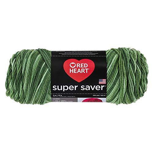 Red Heart Yarn Super Saver Yarn 3629 Tones, Deep Pine Green Each
