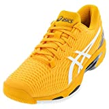 ASICS Men's Solution Speed FF 2 Tennis Shoes, 10, Amber/White