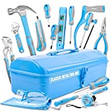 <span class='highlight'>Hi</span>-<span class='highlight'>Spec</span> 33 Piece Classic Home Workshop DIY Hand Tools Set in Retro Style Sheet-Metal Carry Box with Hacksaw, Pliers, Hammer, Screwdrivers & Safety Goggles – Great DIY Gift Toolkit