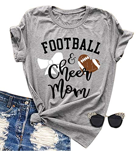 Football and Cheer Mom T Shirt Love Football Mom Mama Funny...