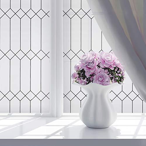 LC&TEAM selbsthaftend Fensterfolie (Marokkanischer Stil) Glasfolie für Fenster Sichtschutzfolie Blickdicht Fensterbilder statische Folie ohne Klebe Wiederverwendbar 90 * 200cm