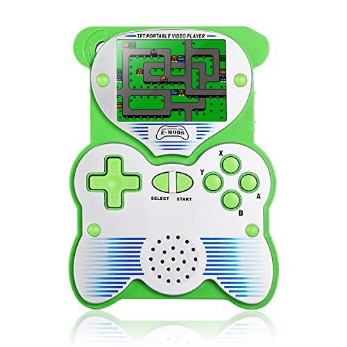 Easegmer Classic Handheld Games Console, PD-250 Panda Design 2.6 Inch Built-in 220 Games Retro Video Game Console 12 Bit Pocket Game Player Portable Gaming System for Kids Adult(Green)