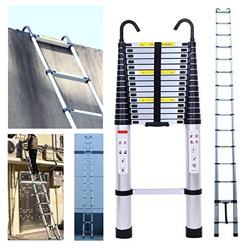 Teleskopleiter aus Aluminium, ausziehbar, tragbar, Mehrzweckleiter mit Sicherheitsverriegelung, maximale Belastung 150 kg, für den Innen- und Außenbereich, Handwerker, Heimwerker, multifunktionale Leiter