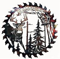 3D壁アートの装飾、庭の壁アート、創造的な森の動物の木製工芸品、リビングルームの寝室のキッチンパティオの家のための壁掛けシルエットアート