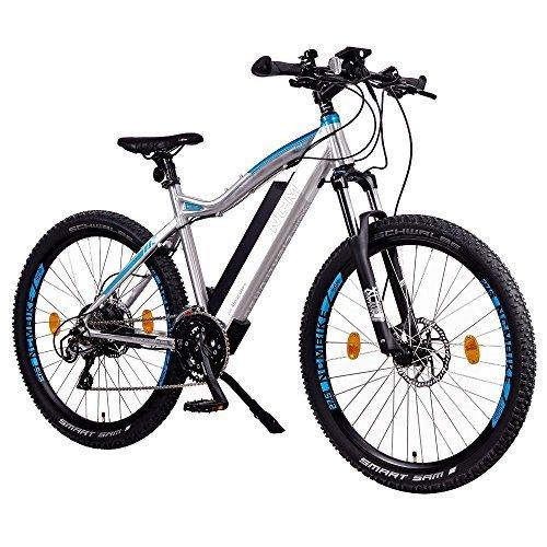 "NCM Moscow Plus E-Bike Mountainbike, 250W, 48V 14Ah • 672Wh Akku, 27,5\""/29\"" Zoll (14 Ah Silber + 27,5\"")"