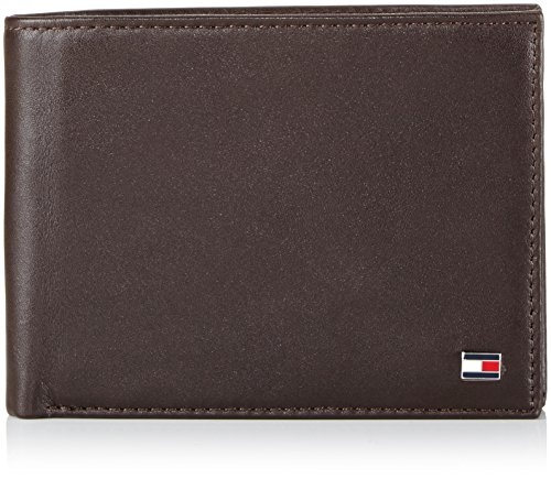Tommy Hilfiger Eton CC and Coin Pocket - Cartera para Hombre, Color Brown 204, Talla 13x10x2 cm (B x H x T)