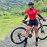 Triathlon Damen Radtrikot Anzug Langarm Radtrikot Sweatshirt Fahrrad Radtrikot Overall Radtrikot (Color : 6, Size : XXL)