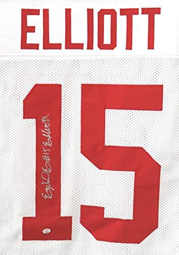 Ezekiel Elliott Ohio State Buckeyes Signed Autographed White #15 Custom Jersey PAAS COA