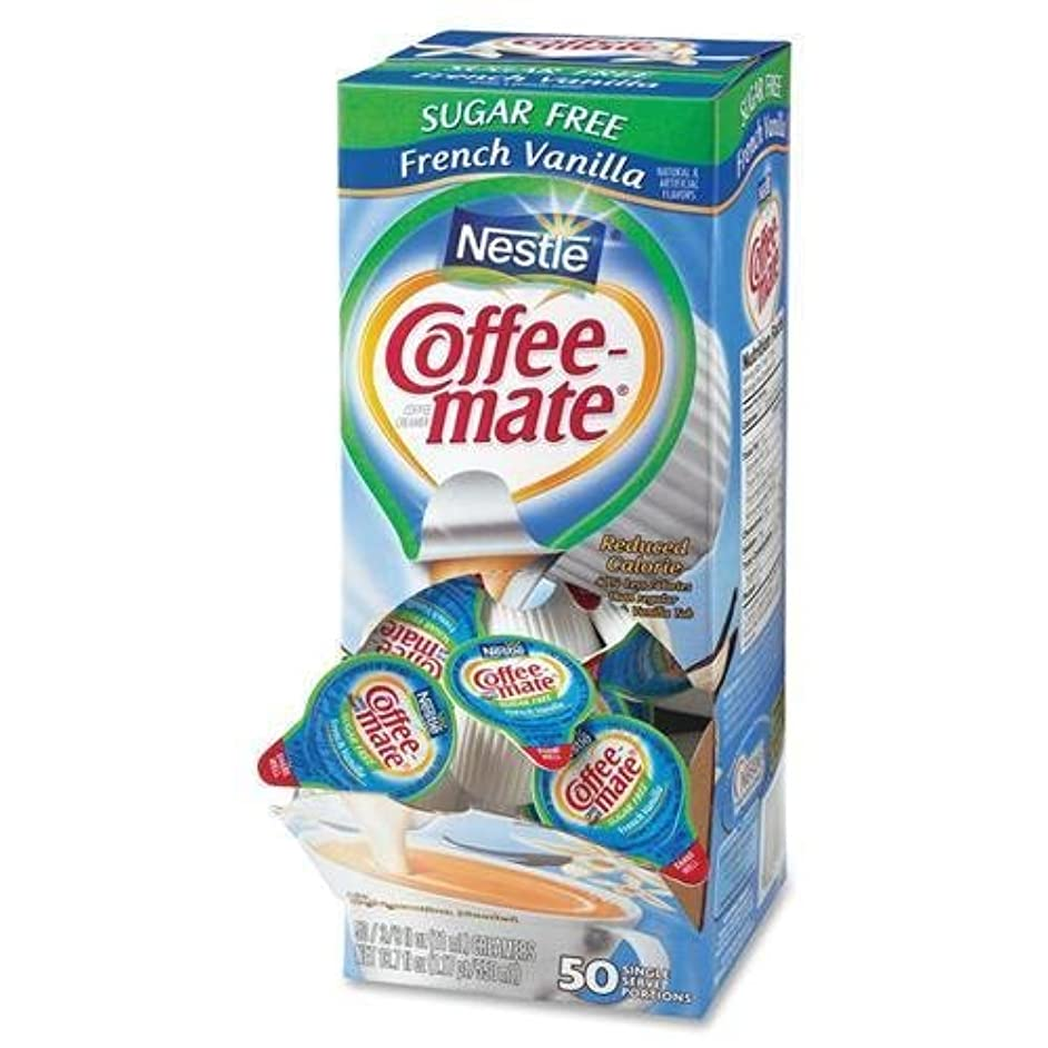 Nestle 91757 French Vanilla Liquid Creamer - French Vanilla Flavor - 0.38 fl oz - 50/Box