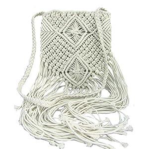 Donalworld - Bolso bandolera para mujer con flecos de crochet, bohemio | DeHippies.com